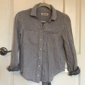 Madewell Button Down Vertical Striped Blouse